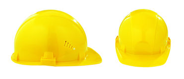 Yellow safety hard hat or helmet Royalty Free Stock Photos