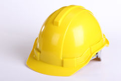 Yellow safety hat Stock Image