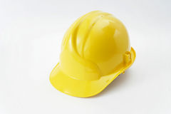 Yellow safety headgear Stock Image