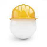 Yellow safety helmet. On white background Royalty Free Stock Photography