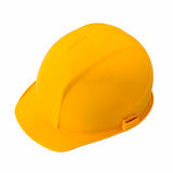 Yellow safety helmet. Isolated on white background Royalty Free Stock Image