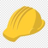 Yellow safety helmet cartoon illustration Royalty Free Stock Image