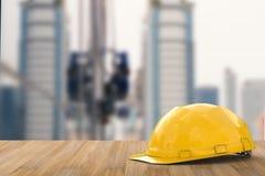 Yellow safety helmet Stock Image