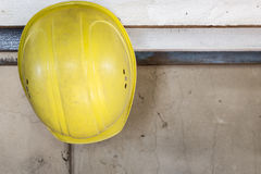 Yellow safety helmet Royalty Free Stock Photos