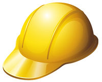 A yellow safety helmet Royalty Free Stock Photos