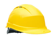 Yellow safety helmet Royalty Free Stock Images