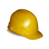 Yellow safety helmet. On white background Stock Image