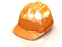 Yellow safety helmet Royalty Free Stock Image
