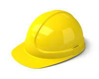 Yellow Safety Helmet on the White Background stock images