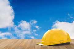 Yellow safety helmet Stock Images