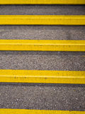 Yellow Safety Steps - Accident Prevention Stock Image
