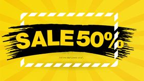 Yellow Sale banner template design. layout design. End of season special offer banner. Vector illustration. stock illustration
