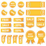 Yellow Sale Banners Royalty Free Stock Photography