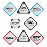 Sales Sticker Collection Stock Photos