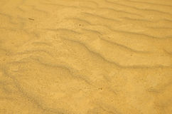 Yellow sand. Texture of the yellow sand Royalty Free Stock Photography