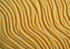 Yellow sand background with sunset shadows Royalty Free Stock Images