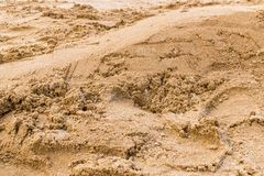 Yellow sand background royalty free stock photography