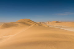Yellow sand dunes at Swakopmund Royalty Free Stock Images