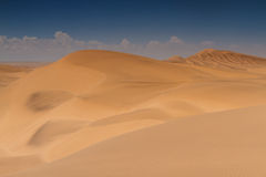 Yellow sand dunes at Swakopmund Royalty Free Stock Photography