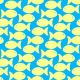 Yellow Sand Fish Swimming Seamless Background Stock Images