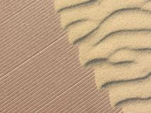 Yellow sand moved by the wind. Yellow sand moved by the  wind Stock Photo