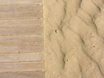 Yellow sand moved by the wind Stock Photo