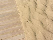 Yellow sand moved by the wind Stock Images