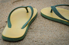Yellow sandal Stock Image