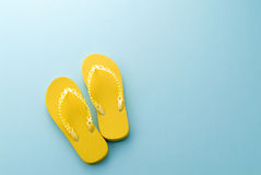 Yellow sandals Royalty Free Stock Photography