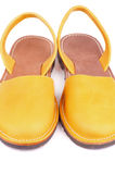 Yellow Sandals Stock Images