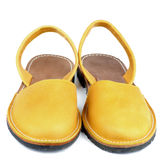 Yellow Sandals Royalty Free Stock Photo
