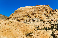 Yellow Sandstone hill, Nevada Royalty Free Stock Images