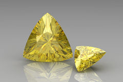 Yellow sapphire Royalty Free Stock Photography