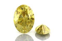Yellow sapphire Stock Image
