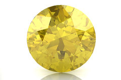 Yellow sapphire Royalty Free Stock Image