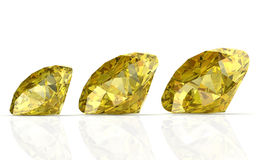 Yellow sapphire Stock Photography