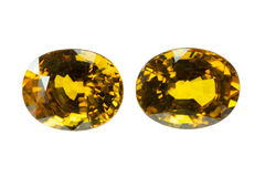 Yellow Sapphire Royalty Free Stock Photos