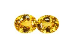Yellow sapphire Stock Photos
