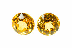 Yellow sapphire Royalty Free Stock Photo