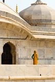 Yellow sari at Amber fort Stock Photography