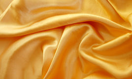 Yellow satin Stock Photo