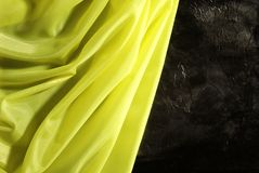 Yellow satin Royalty Free Stock Photo