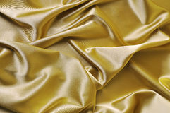 Yellow satin Royalty Free Stock Photos