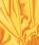 Yellow satin. Swirl in vector Royalty Free Stock Photography