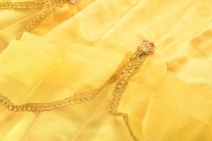 Yellow satin Royalty Free Stock Photography