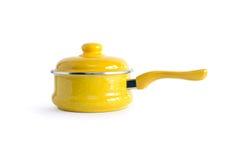 Yellow Saucepan Stock Photo
