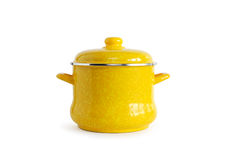 Yellow Saucepan Royalty Free Stock Image