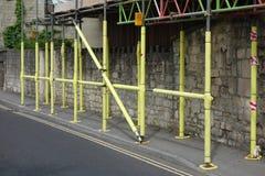 Yellow Scaffolding Stock Photo
