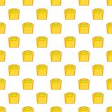 Yellow scales pattern, cartoon style Royalty Free Stock Image