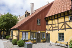 Yellow scandinavian house Stock Image